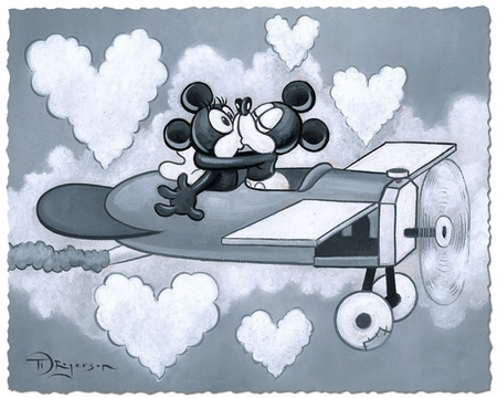 "Tim Rogerson Limited Satin Finish Print on Hand-Deckled Paper:""Love Flying High"""