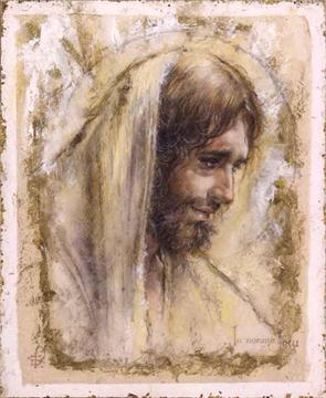 """Tom Dubois Limited Edition Giclee on Paper w/ Gold Foil :""""Jesus """""""
