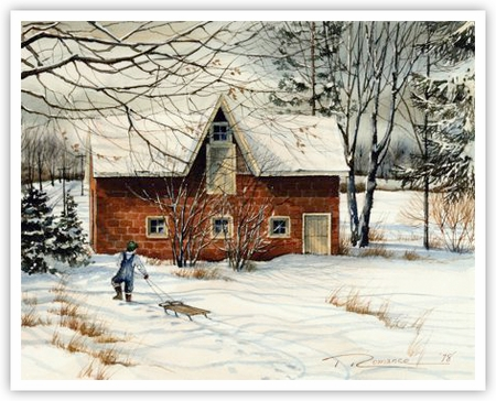 """Trisha Romance Hand Signed and Numbered Limited Edition Giclee:""""Coach House"""""""