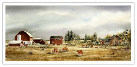 "Trisha Romance Hand Signed and Numbered Limited Edition Giclee:""Hornby Farm"""