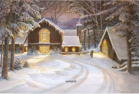 "Trisha Romance Handsigned & Numbered 2007 Christmas Limited Edition Print  :""A Star for Christmas """
