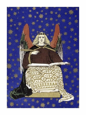 "Unknown Fine Art Open Edition Giclée:""Angel Holding Book"""