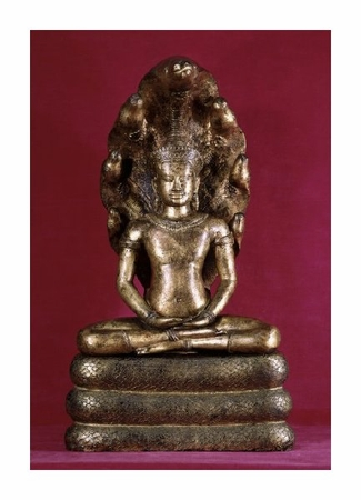 "Unknown Fine Art Open Edition Giclée:""Buddha Sheltered by the Cobra (Style of Angkor Wat)"""