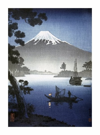 """Unknown Fine Art Open Edition Giclée:""""Japanese Print (Mount Fuji from Tagonoura) By Shinsei"""""""