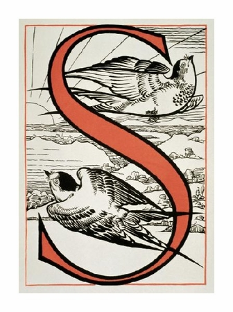 "Unknown Fine Art Open Edition Giclée:""The Letter 'S' ( Is for Sparrow, Sun...)"""