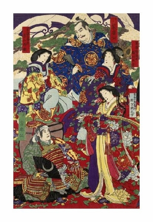 "Unknown Fine Art Open Edition Giclée:""Tokugawa Leyasu and Tokugawa Hidetada"""