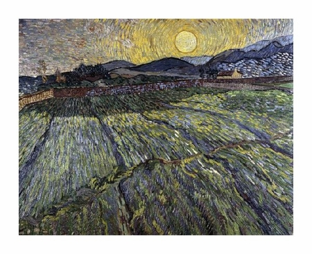 "Vincent Van Gogh Fine Art Open Edition Giclée:""Enclosed Field with Rising Sun, Saint-Remy"""