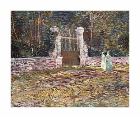 "Vincent Van Gogh Fine Art Open Edition Giclée:""Entrance to the Voyer-D'Argenson Park at Asnieres"""