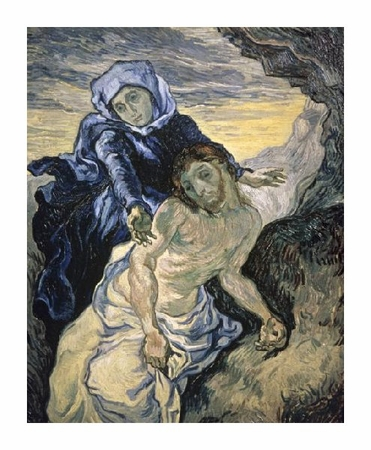 "Vincent Van Gogh Fine Art Open Edition Giclée:""Pieta (After Delacroix)"""
