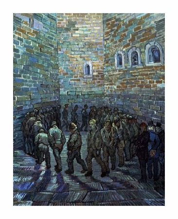 "Vincent Van Gogh Fine Art Open Edition Giclée:""Prisoner's Exercising (After Dore)"""