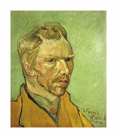 "Vincent Van Gogh Fine Art Open Edition Giclée:""Self Portrait"""