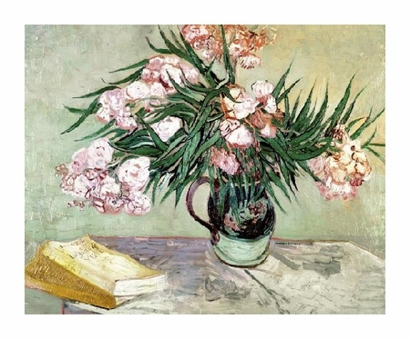 "Vincent Van Gogh Fine Art Open Edition Giclée:""Still Life: Vase with Oleanders and Books"""