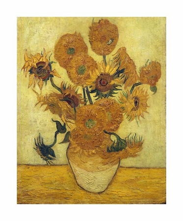 "Vincent Van Gogh Fine Art Open Edition Giclée:""Sunflowers"""