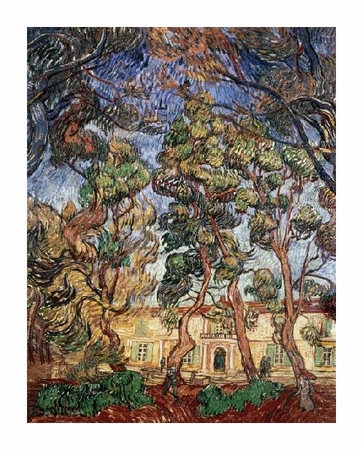 "Vincent Van Gogh Fine Art Open Edition Giclée:""Trees in the Garden of Saint-Paul Hospital"""