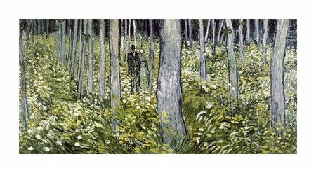 "Vincent Van Gogh Fine Art Open Edition Giclée:""Undergrowth with Two Figures"""
