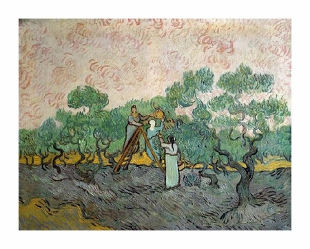"Vincent Van Gogh Fine Art Open Edition Giclée:""Women Picking Olives"""