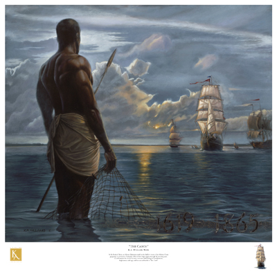 "Kevin A. Williams (WAK) Limited Edition Signed Lithograph Ed. 850:""The Catch"""