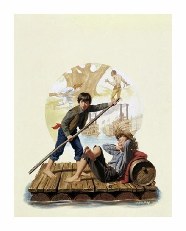 "Walter Popp Fine Art Open Edition Giclée:""Huckleberry Finn"""