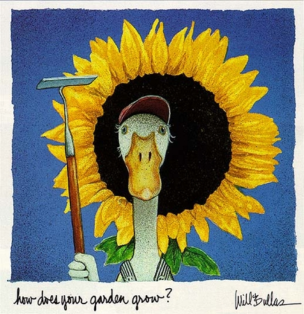 "Will Bullas Fine Art Limited Edition Paper :""How Does Your Garden Grow?"""