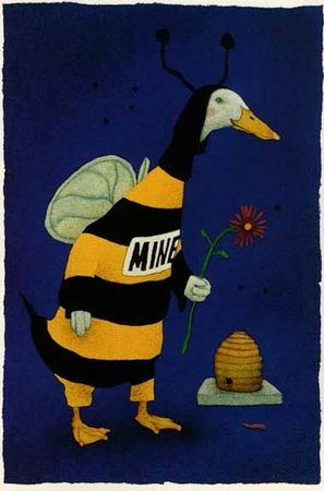 "Will Bullas Fine Art Limited Edition Paper :""Please Bee Mine"""