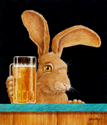"""Will Bullas Fine Art Open Edition Canvas :""""Jack With a Beer Back"""""""