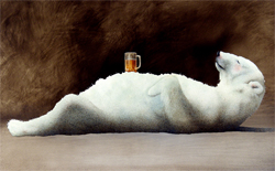 "Will Bullas Fine Art Open Edition Canvas :""Polar Beer"""