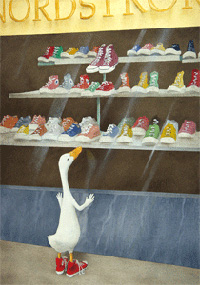"Will Bullas Fine Art Signed Open Edition Canvas :""Baby Needs a New Pair of Shoes"""