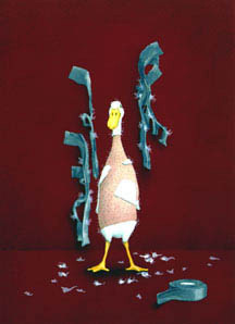 "Will Bullas Fine Art Signed Open Edition Canvas :""Duck Tape...Unbound"""