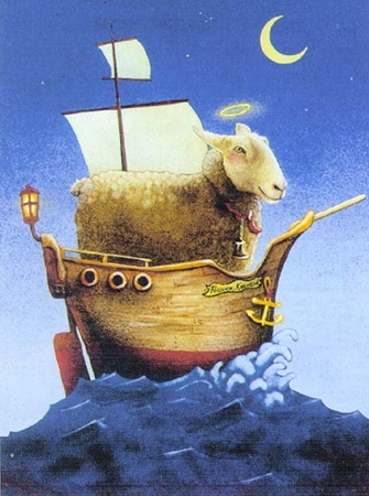 "Will Bullas Fine Art Signed Open Edition Paper :""Holy Sheep Ship"""