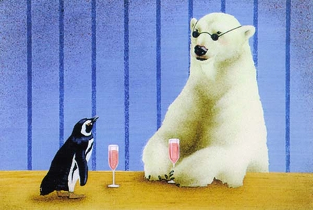 """Will Bullas Fine Art Signed Open Edition Paper :""""The Wine Coolers"""""""