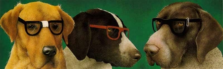 "Will Bullas Limited Edition Print: ""The Nerd Dogs"""