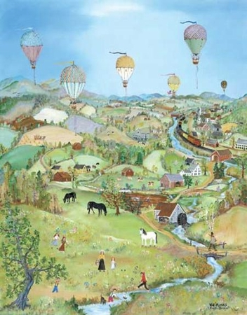 """Will Moses Handsigned & Numbered Limited Edition:""""Balloons Over the Cambridge Valley"""""""