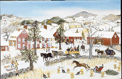 """Will Moses Handsigned & Numbered Limited Edition:"""" Checkered House Christmas"""""""