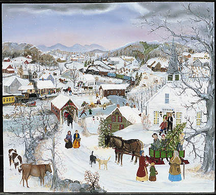 """Will Moses Handsigned & Numbered Limited Edition:""""Church Christmas Tree """""""