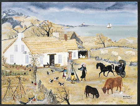 """Will Moses Handsigned & Numbered Limited Edition:""""Crone's Cottage in Winter """""""