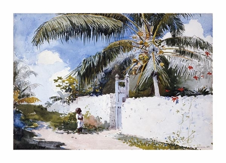 "Winslow Homer Fine Art Open Edition Giclée:""A Garden in Nassau"""