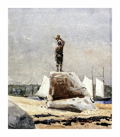 "Winslow Homer Fine Art Open Edition Giclée:""Boy Hailing Schooners"""