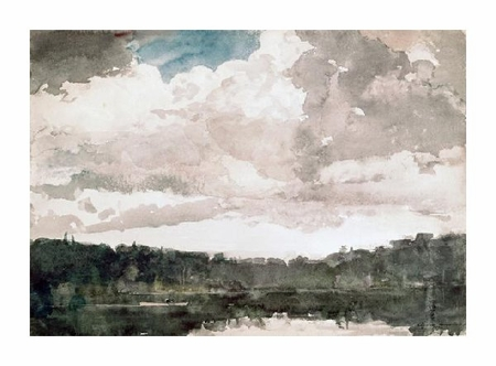 "Winslow Homer Fine Art Open Edition Giclée:""Lone Boat, North Woods Club, Adirondacks"""