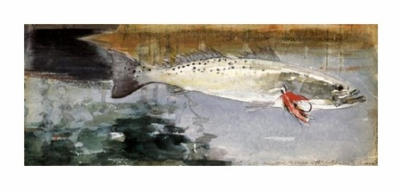 "Winslow Homer Fine Art Open Edition Giclée:""Mrs. R. H. Watts' Trout"""