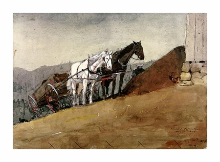 "Winslow Homer Fine Art Open Edition Giclée:""The Hill Top Barn - Houghton Farm"""