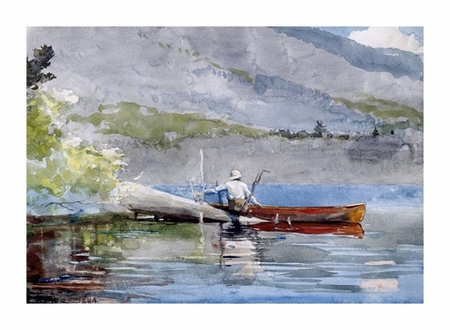 "Winslow Homer Fine Art Open Edition Giclée:""The Red Canoe"""