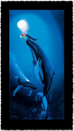 "Wyland Artist Signed Limited Edition Giclee on Hand Deckled Paper:""Ariel's First Breath"""
