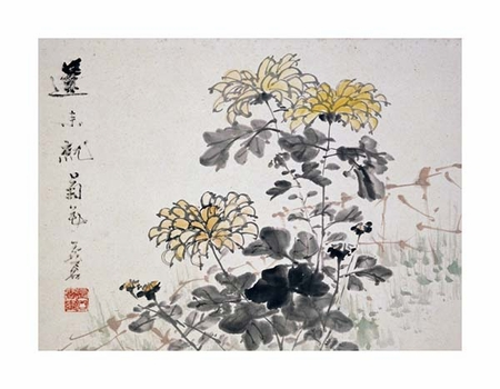 "Xu Gu Fine Art Open Edition Giclée:""Chrysanthemums"""