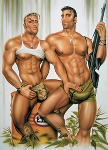 Adventure Men Gay Card - click to enlarge