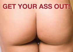 Get Your Ass.. - Womens Birthday Card - click to enlarge