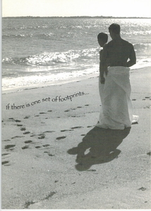 One Set Of Footprints..- Love Gay Card - click to enlarge