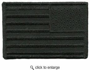 2x3 All-Black Reverse USA Patch