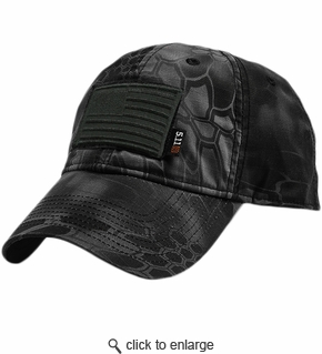 USA-ALL-BLACK - 5.11 Flag Bearer Cap Bundle - Typhon