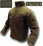 Condor Tactical Jacket - Coyote Tan Microfleece + Patches