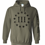 Olive Drab Three percenter Hoody